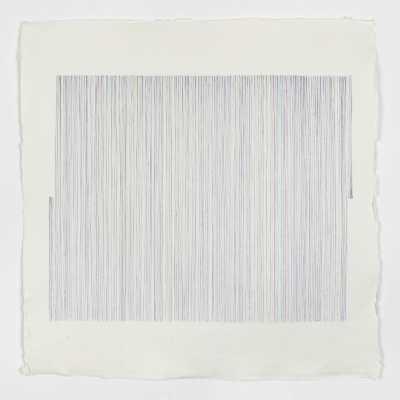 176 Dice Rolls and 8 Fixed Lines 2019 Penna a sfera su carta / Ballpoint pen on paper 30×30 cm