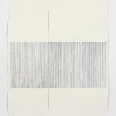 215 Dice Rolls and 1 Fixed Line 2020 Penna a sfera su carta / Ballpoint pen on paper 42×30 cm