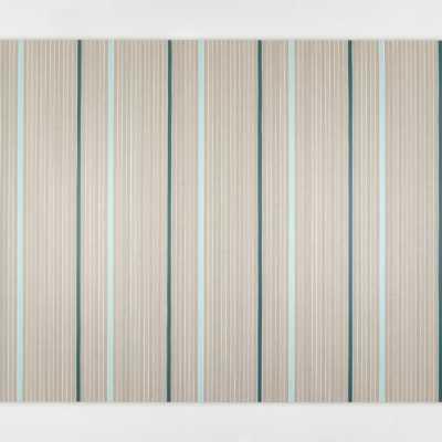 108 Coin Flips and 12 Fixed Stripes 2020 Pigmenti, gesso e acrilico su lino / Pigments, chalk and acrylic on linen 80×120 cm