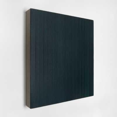 40 Dice Rolls and 130 Coats 2020 Pigmenti, gesso e acrilico su lino / Pigments, chalk and acrylic on linen 40×40 cm