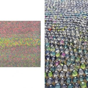 RITRATTO DI UOMO E DI DONNA, 2017, foto digitali e silicone su plexiglass giallo, cm 30x37x3