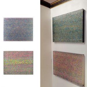 RITRATTO DI UOMO E DI DONNA, 2017, foto digitali e silicone su plexiglass nero, cm 30x37x3 cad.