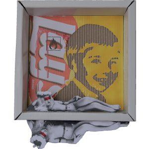 BOX DOUBLE, 2015, cartone inciso e colori acrilici, 30x30