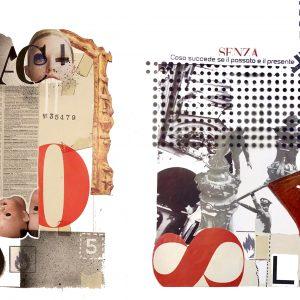 RAPSODIE, 2018, collage su bristol e acrilico, cm 25x35 cad.