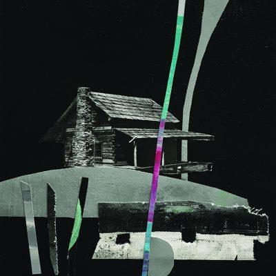 RAIMBOW HUT, 20x30 cm, mixed media on canvas, 2017