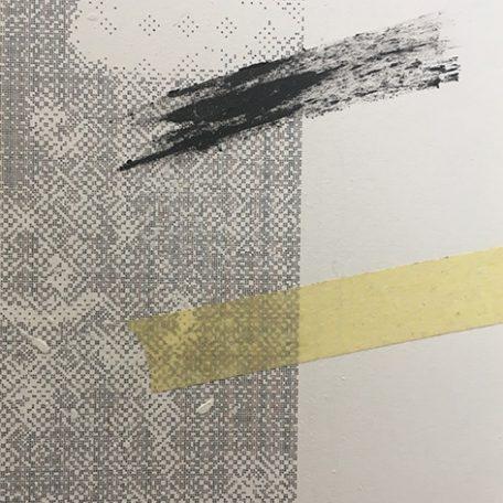IWY A.L.T. lato B, 2017, getto d'inchiostro, collage, acrilico, n.4/5