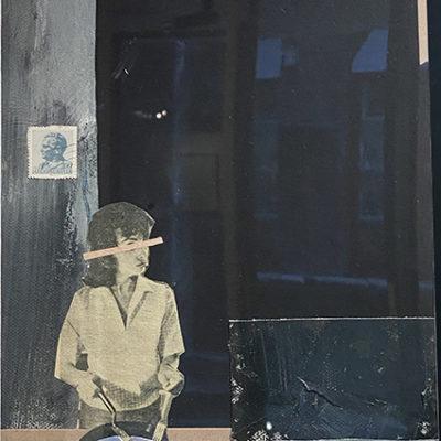 HOUSEWORK II, 2020, mixed media su tela, cm 30x20