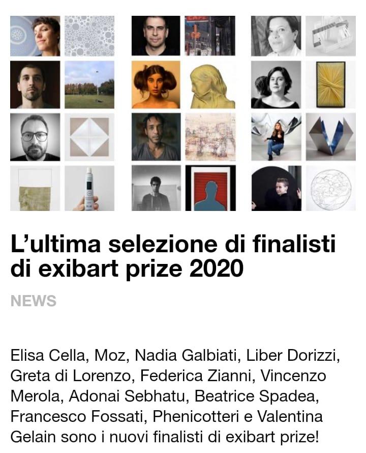 Vincenzo Merola finalista Exibart Prize 2020