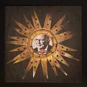 EX VOTO 1, 2020, bicchiere Burger King inciso e colori acrilici, cm 25x25
