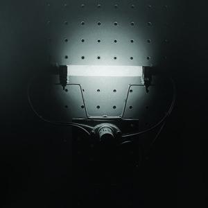 LIGHT BOX, 2013, photocolor retroilluminata, neon su pannello, cm 35x35